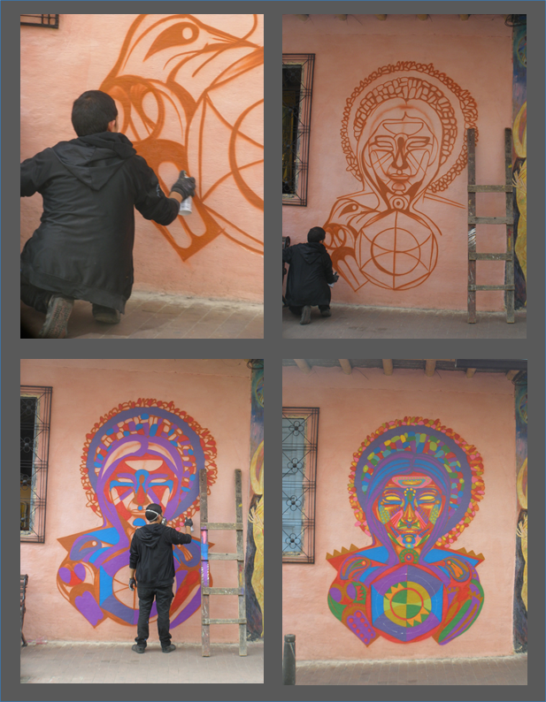 'Guache' pintando La Peluquería