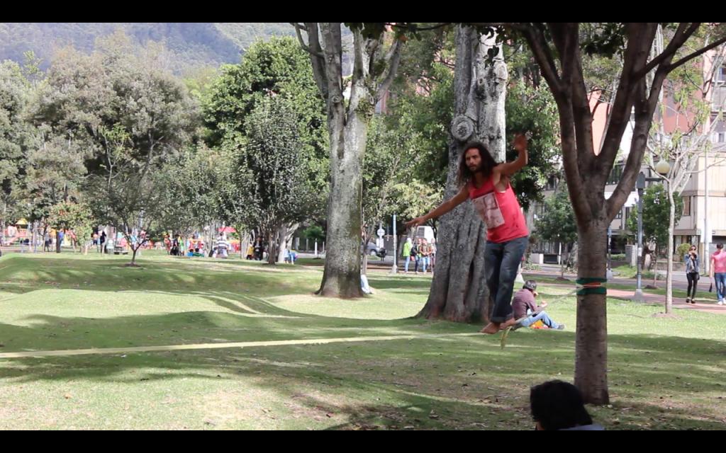 Muestra de slickline por Andrés Sánchez, Director de Equilibrarte Bogotá