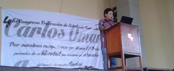 Lectura declaración política #4CongresoFEU | Foto: @feucolombia