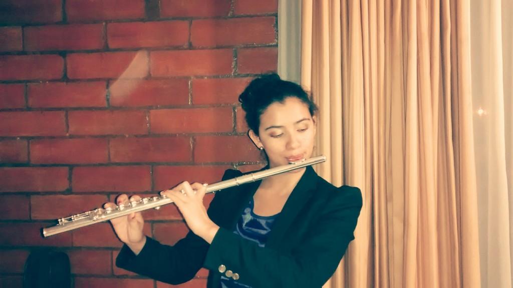María del Pilar Jiménez, música profesional de flauta traversa e integrante de la Banda Sinfónica de Chía