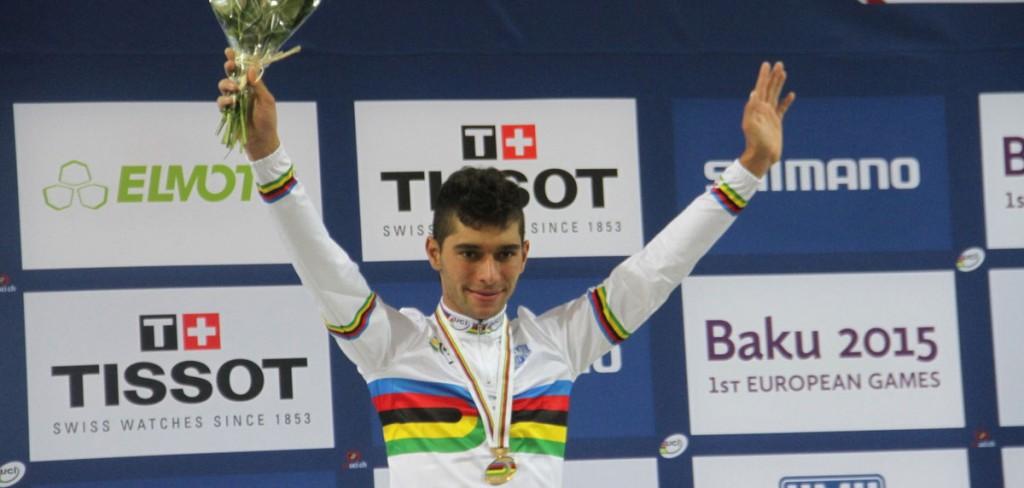 El antioqueño de 20 años es campeón mundial de pista en ómnium. | Foto: Federación Colombiana de Ciclismo