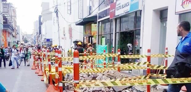 137 comerciantes afectados por el MÍO cable   Foto: Alcaldía de Cali.