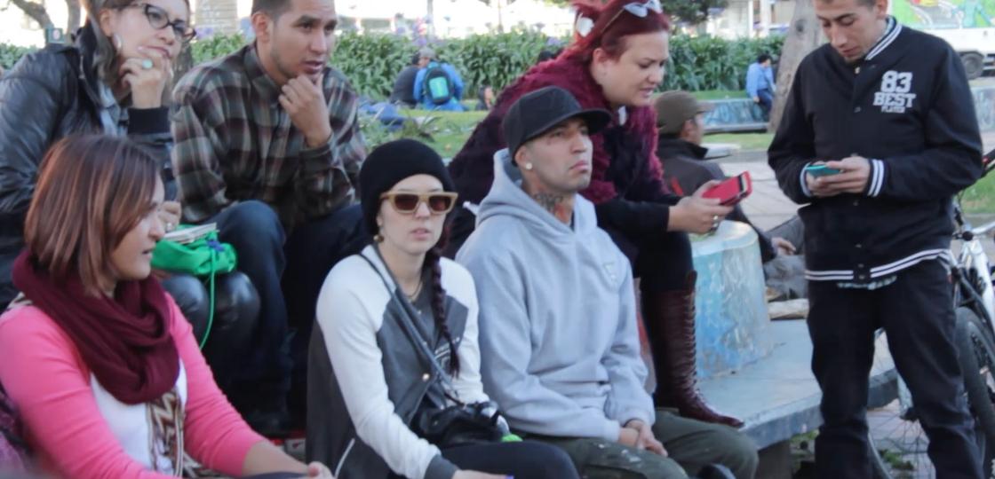 los jóvenes planteando  diferentes iniciativas como la del Hiphop- grafiti en la localidad de chapinero.