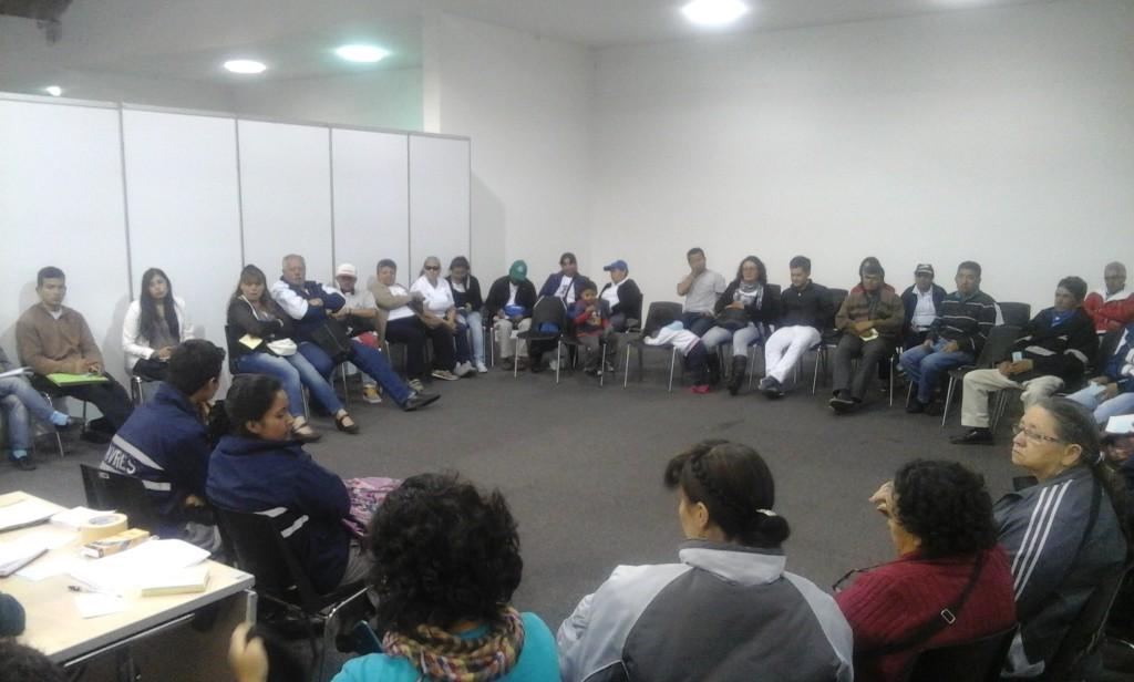 Etapa final del encuentro entre IDIGER y las localidades de Bogotá