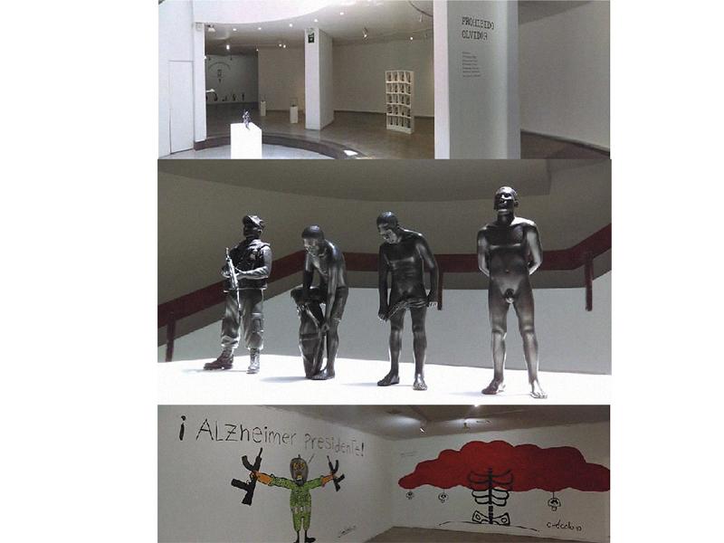 El caricaturista Chócolo también hace parte de Prohibido Olvidar junto a seis artistas más de Chile, México y Colombia.