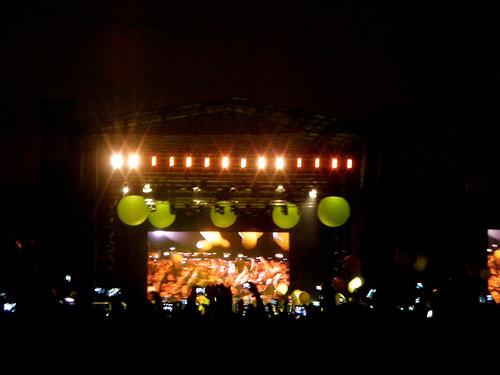 Presentación de Coldplay en el 2010 en el parque Simón Bolivar de Bogotá.