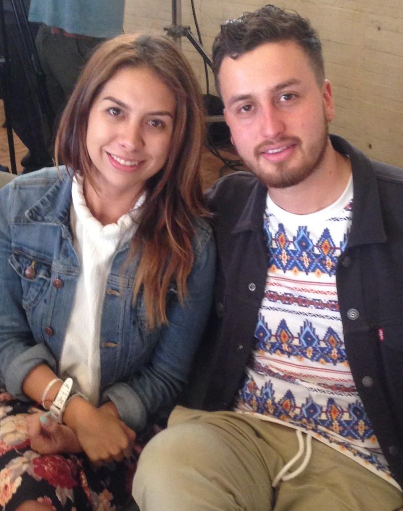 Nicolás González y Estephany Schlappkhohl, estudiantes de la Universidad de la Sabana, ganadores Proyecto 48 Bogotá 2015.
